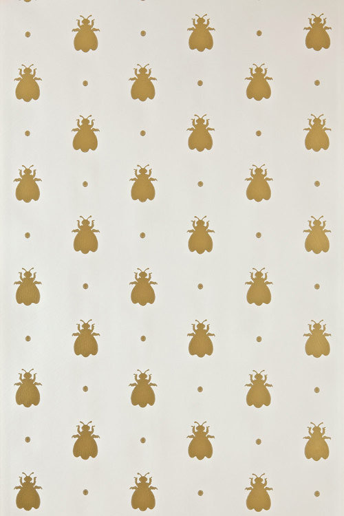 Farrow & Ball Bumble Bee Metallic Gold / Cream Wallpaper - Product code: BP 507