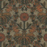 Little Greene New Bond Street Burnish Orange Wallpaper