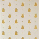 Farrow & Ball Bumble Bee Metallic Gold / Light Grey Wallpaper