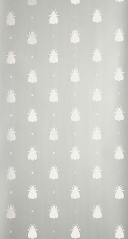 Farrow & Ball Bumble Bee Metallic Silver / Green Wallpaper - Product code: BP 584