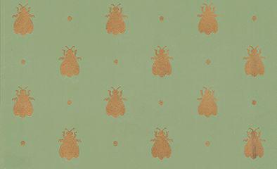 Farrow & Ball Bumble Bee Metallic Gold / Green Wallpaper - Product code: BP 547