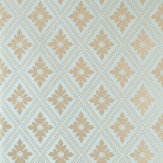 Farrow & Ball Ranelagh Metallic Sky Blue Wallpaper