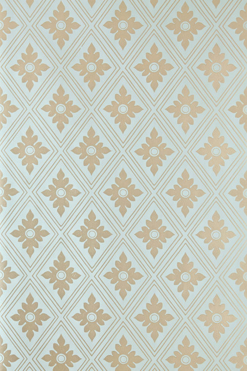 Farrow & Ball Ranelagh Metallic Sky Blue Wallpaper - Product code: BP 1847