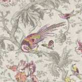 Little Greene Crowe Hall Lane Charme Pink / Green / Grey Wallpaper