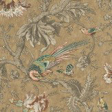 Little Greene Crowe Hall Lane Reade Orange / Green / Brown Wallpaper