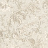 Little Greene Crowe Hall Lane Talcum Cream / Grey Wallpaper