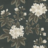 Little Greene Grosvenor Street Alchemy Cream / Brown / Black Wallpaper