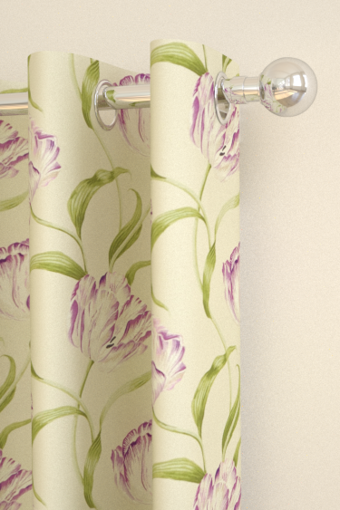 Dancing Tulips Curtains By Sanderson Lilac Stone