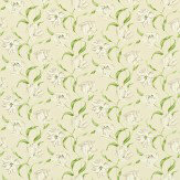 Sanderson Dancing Tulips Green / Ivory Fabric