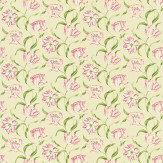 Sanderson Dancing Tulips Red / Cream Fabric