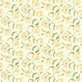 Sanderson Dancing Tulips Yellow / Green Fabric - Product code: 221951