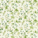 Sanderson Primrose Hill Green / Cream Fabric