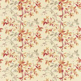 Sanderson Cherry Bough Brown / Grey Fabric