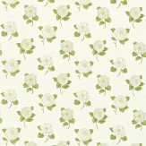 Sanderson Lamorna Green / Cream Fabric