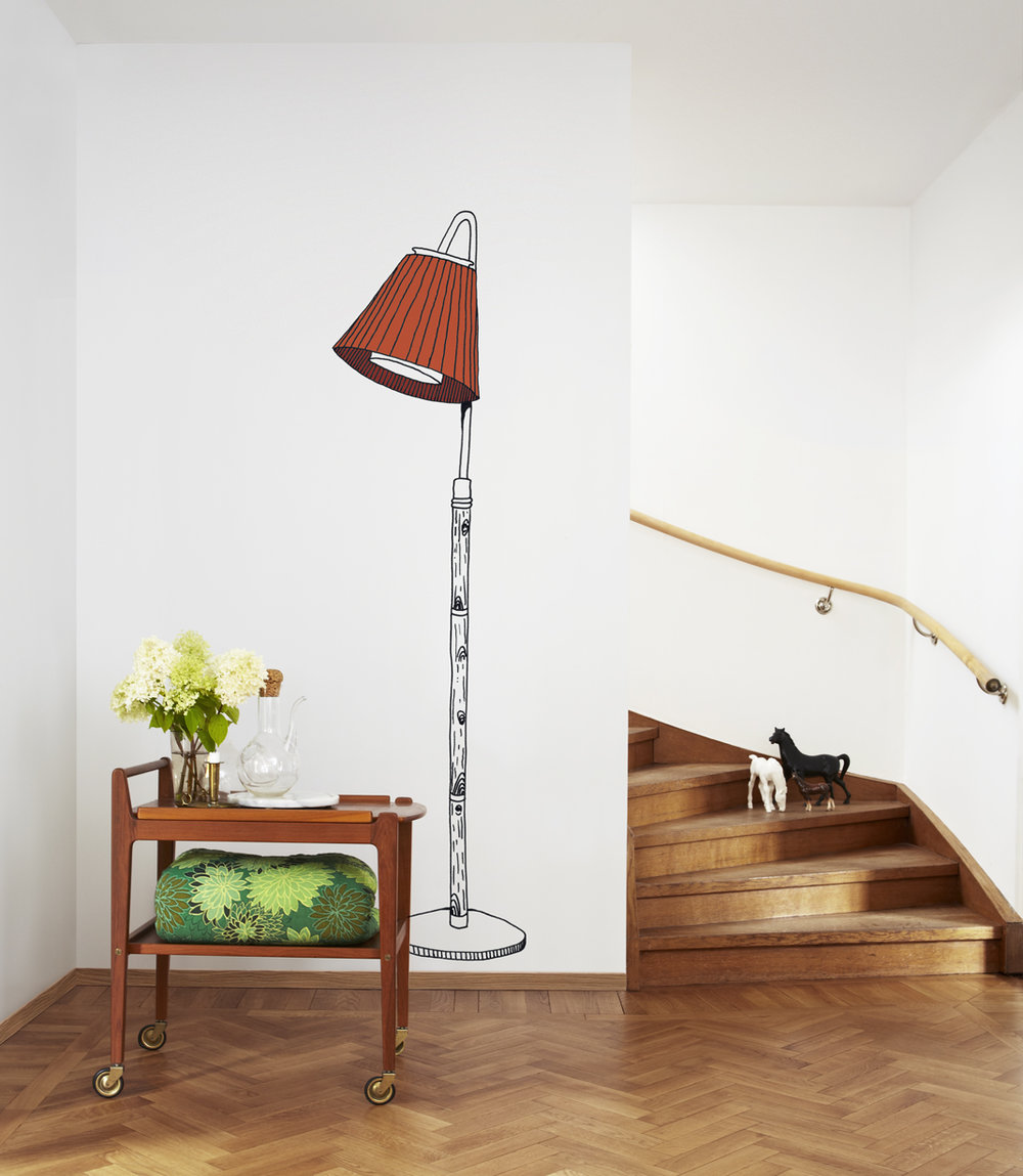 Mr Perswall Lamp Mural - Product code: P162602-2