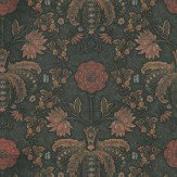 Little Greene New Bond Street Hide Deep Brown Wallpaper
