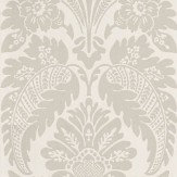 Little Greene Wilton Drapery Grey / Cream Wallpaper