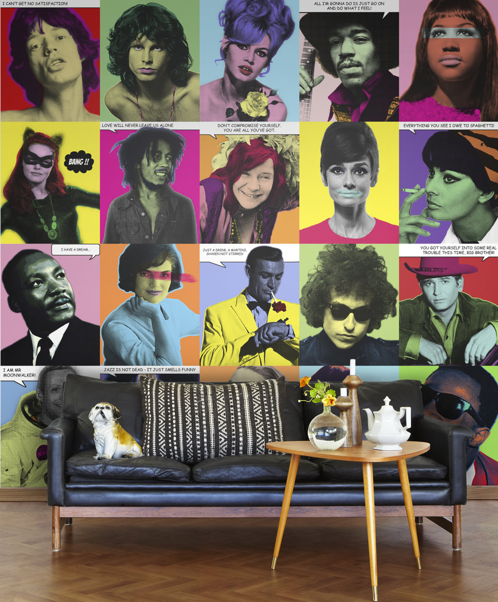 Mr Perswall Pop Up Multi-coloured Mural - Product code: P160801-W