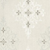 Nina Campbell Holmwood Grey / White / Silver Wallpaper