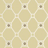 Nina Campbell Huntly Lime / White / Silver Wallpaper