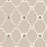 Nina Campbell Huntly Taupe / White Wallpaper