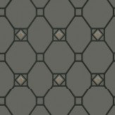 Nina Campbell Huntly Black / Gold Wallpaper
