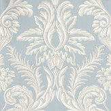 Nina Campbell Ardwell Blue / White Wallpaper