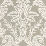 Nina Campbell Ardwell Silver / White Wallpaper