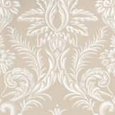 Nina Campbell Ardwell Taupe / White Wallpaper