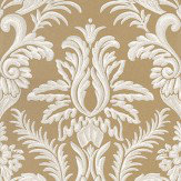 Nina Campbell Ardwell Gold / White Wallpaper