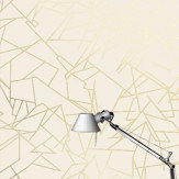 Erica Wakerly Angles Cream / Gold Wallpaper - Product code: ANG G/C