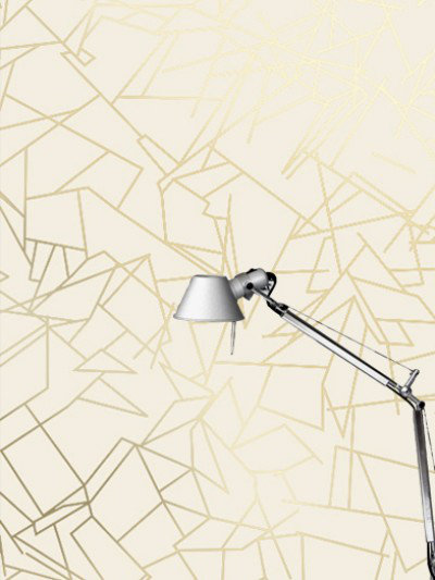 Image of Erica Wakerly Wallpapers Angles Cream Gold, ANG G/C