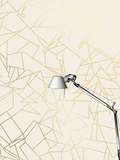 Angles Wallpaper - Cream / Gold - by Erica Wakerly