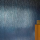 Erica Wakerly Tapet Cafe Tile Silver / Navy Wallpaper