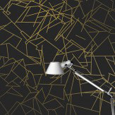 Erica Wakerly Angles Gold / Black Wallpaper