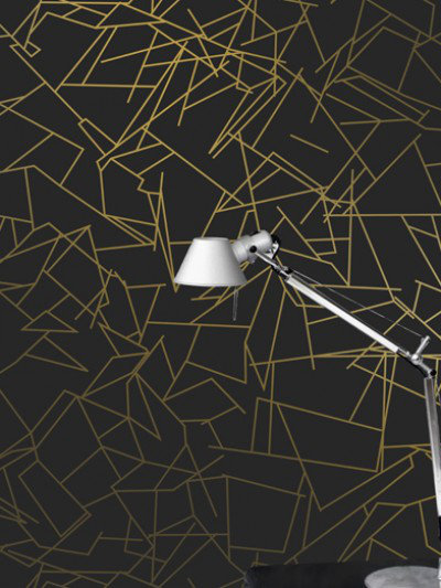 Image of Erica Wakerly Wallpapers Angles Gold Black, ANG G/B