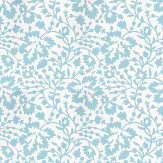 Lorca Louisiane Turquoise / White Wallpaper