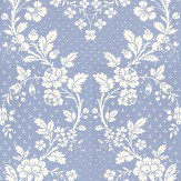 Lorca Pavillon Sky Blue / White Wallpaper