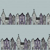 Hubbard and Reenie The Street - All That Jazz Grey / Purple Wallpaper - Product code: TS1
