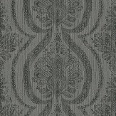 Prestigious Grande - Quartz Black / Silver Grey Wallpaper