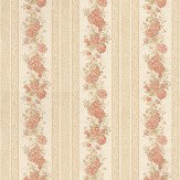 Albany Rose Stripe Antique Wallpaper