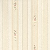 Albany Rosebud Stripe Pink Wallpaper