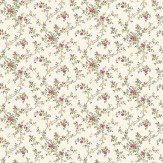 Albany Janine Climbing Rose Pink / Blue Wallpaper