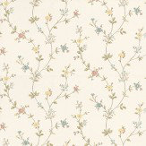 Albany Deanna Trail Coral / Green Wallpaper