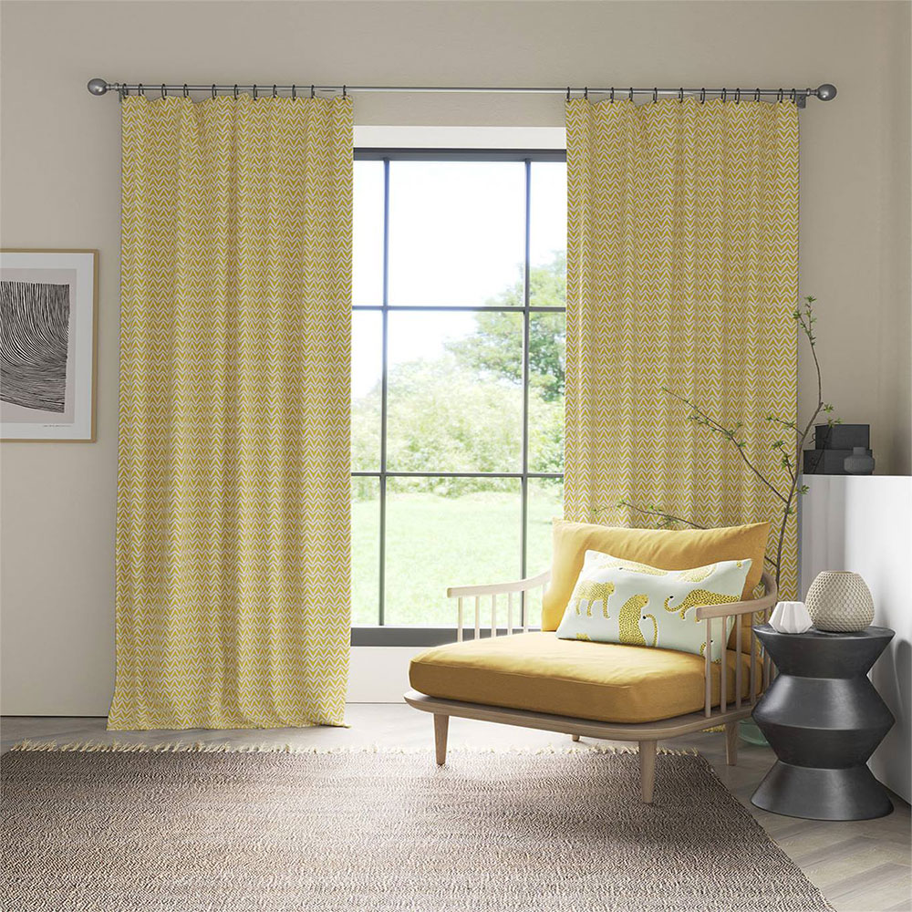 Dhurrie Fabric - Yellow - by Scion