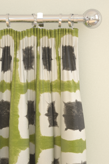 Scion Shoji Green / Charcoal Curtains - Product code: 120185