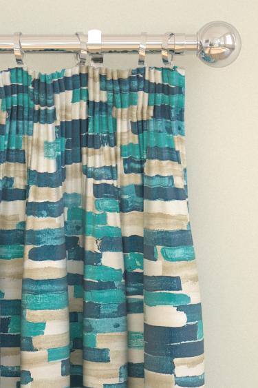 Scion Meiko Blue Curtains - Product code: 120210