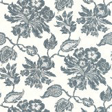Thibaut Helena Navy Wallpaper