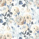 Thibaut Longwood Blue / White Wallpaper - Product code: T4133