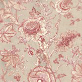 Thibaut Rittenhouse Red / Linen Wallpaper - Product code: T4147